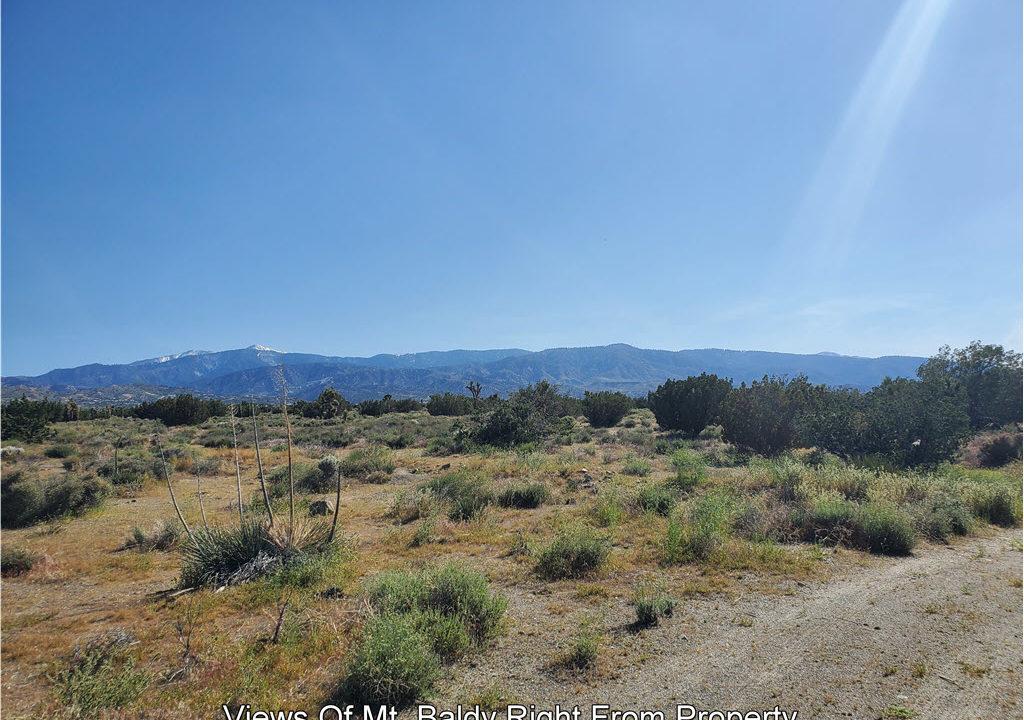 San Bernardino Vcant Land Views Of Mt. Baldy