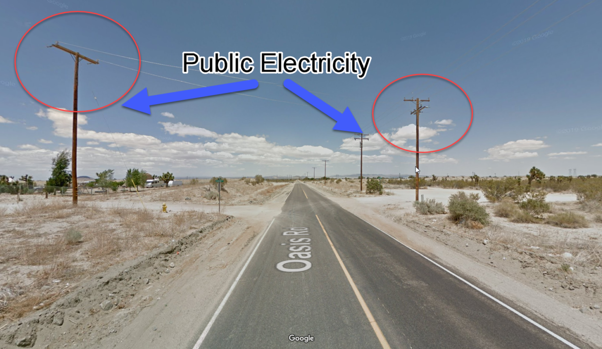 Public electricity to the pinon hills property