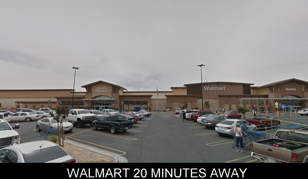 WALMART 20 MINUTES AWAY FROM PROPERTY