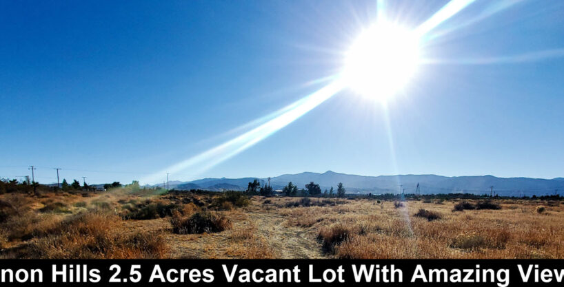 2.5 Acre Pinon Hills Vacant Land Homesite With Manufactured Home Allowed With Beautiful Mountain Views