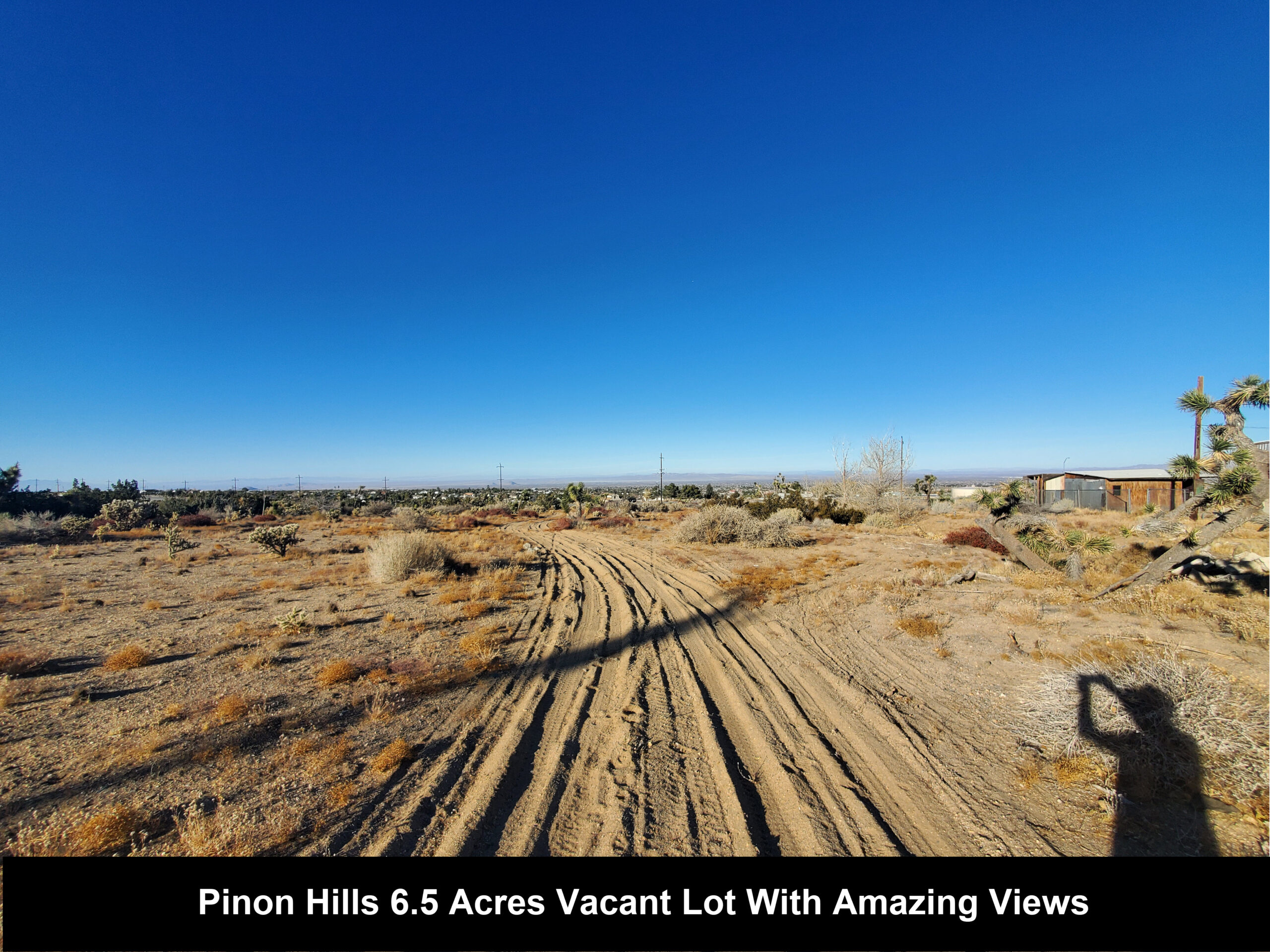 6.41 Acre Pinon Hills Vacant Lot With AMAZING Mountain Views With Water, Electricity And Houses Near