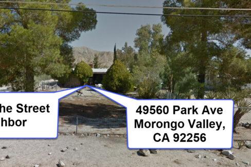 Morongo Valley Across the Street Neighbor
