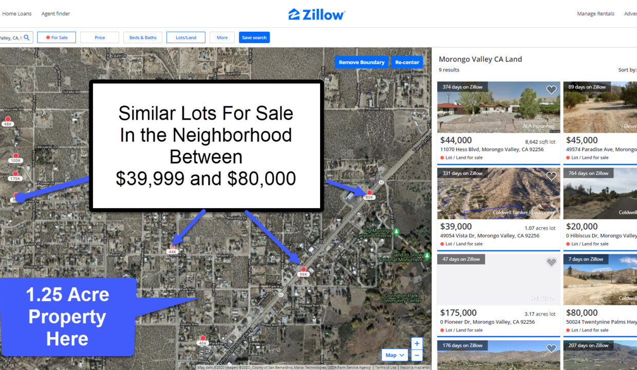 Morongo Valley Similar Lots For Sale