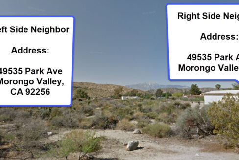 Morongo Valley Vacant Lot Neighbors on Both Sides