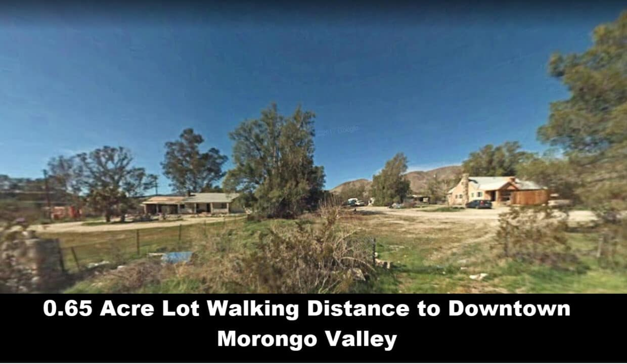 Morongo Valley Vacant Lot Walking Distance to Downtown morongo Valley