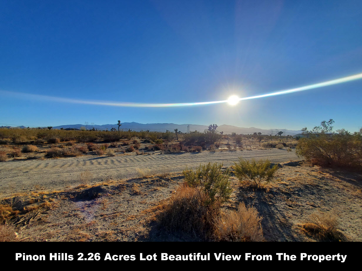 Pinon Hills Beautiful 2.29 Acre Vacant Lot In Fast Growing Neighborhood