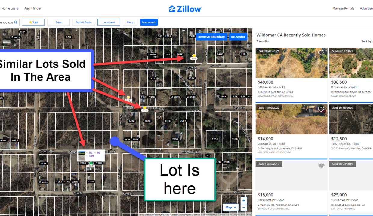 Sales In the Area OF Menifee Vacant Lot
