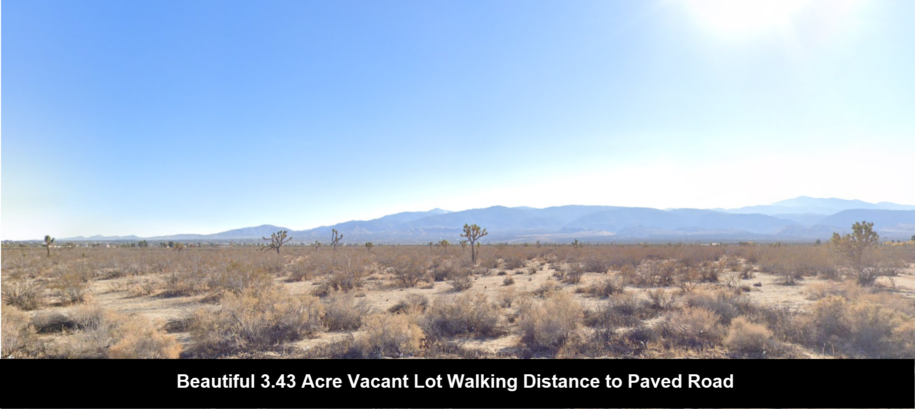 3.43 Acre Vacant Lot In Fast Growing Pinon Hills Walking Distance To Paved Road