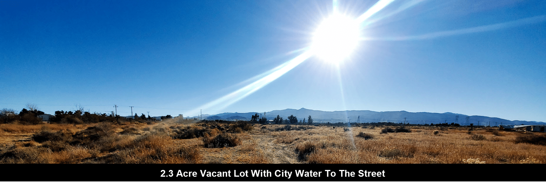 Pinon Hills 2.3 Acres Vacant Land Home Site With City Water To The Street
