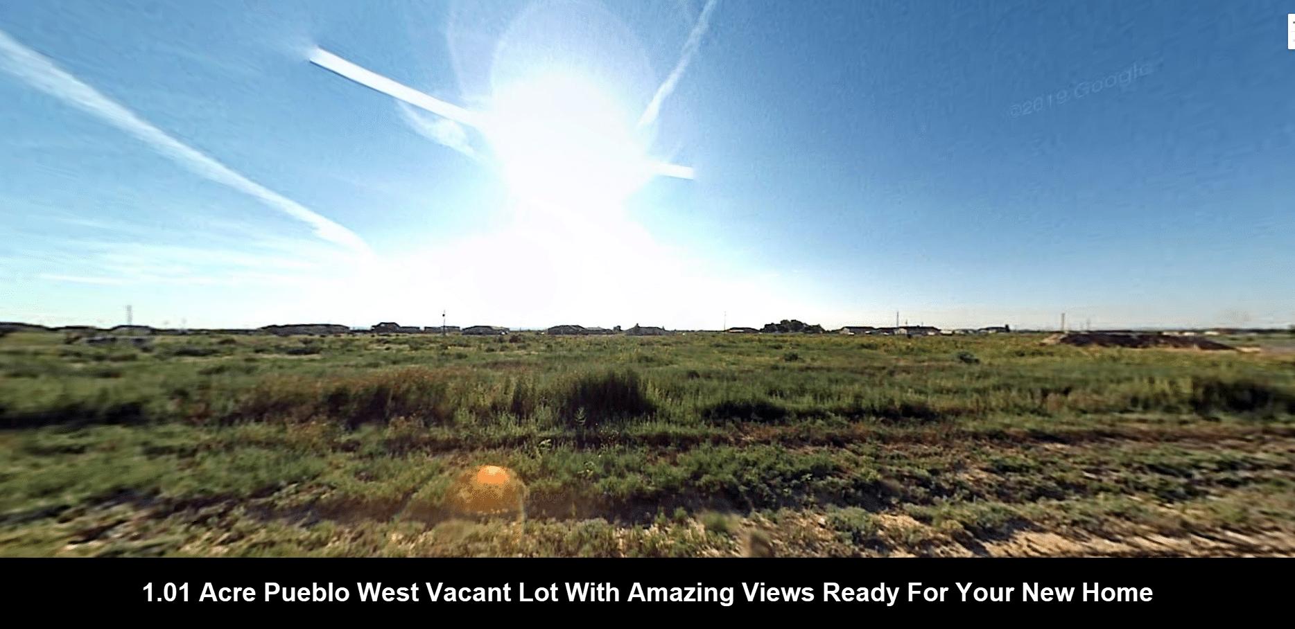 1.01 Acres Pueblo West Vacant Land Homesite With Amazing Views