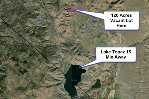 Lake Topaz Vacant Land Map
