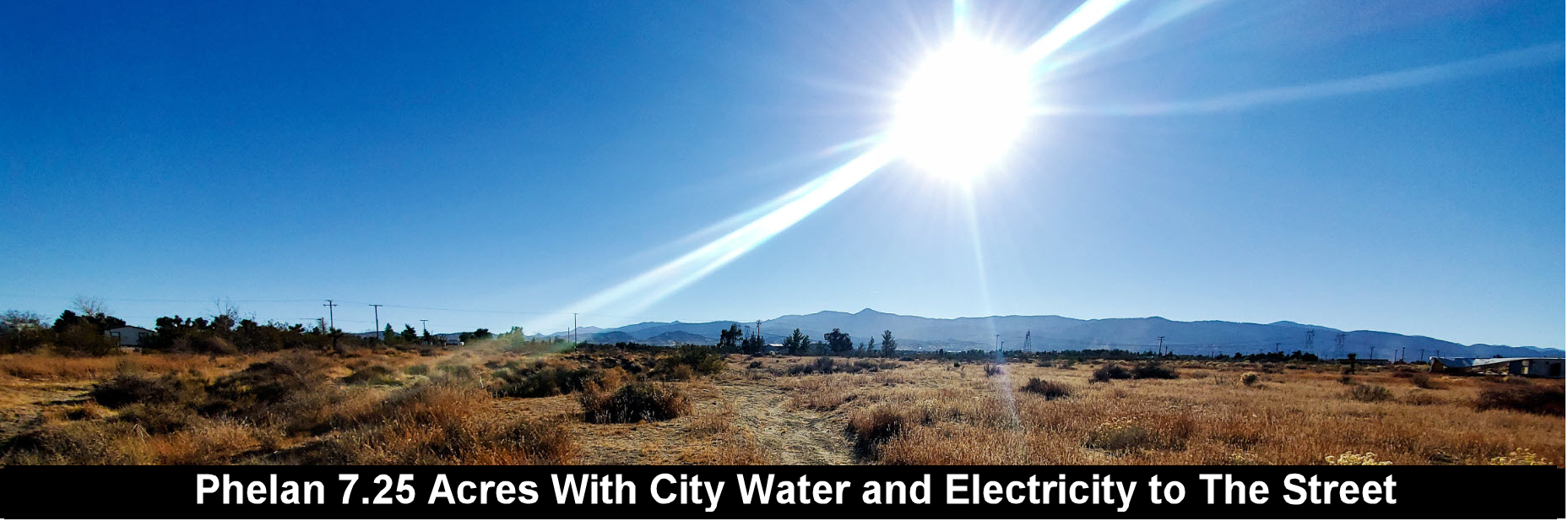 7.25 Acres Vacant Land With Amazing Views and City Electric and Water On the Street
