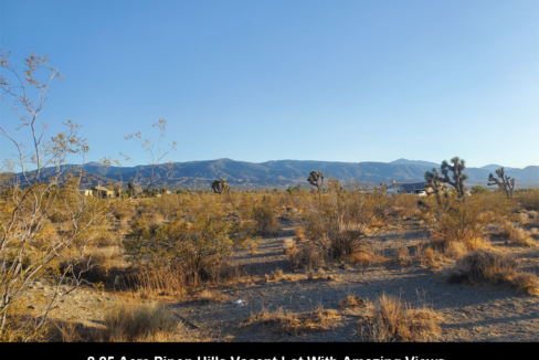 Pinon Hills Vacant Lot For Sale